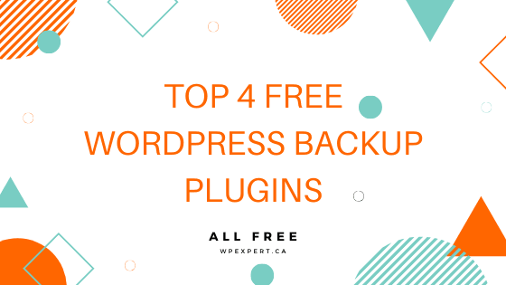 Top 4 Free WordPress Backup Plugins