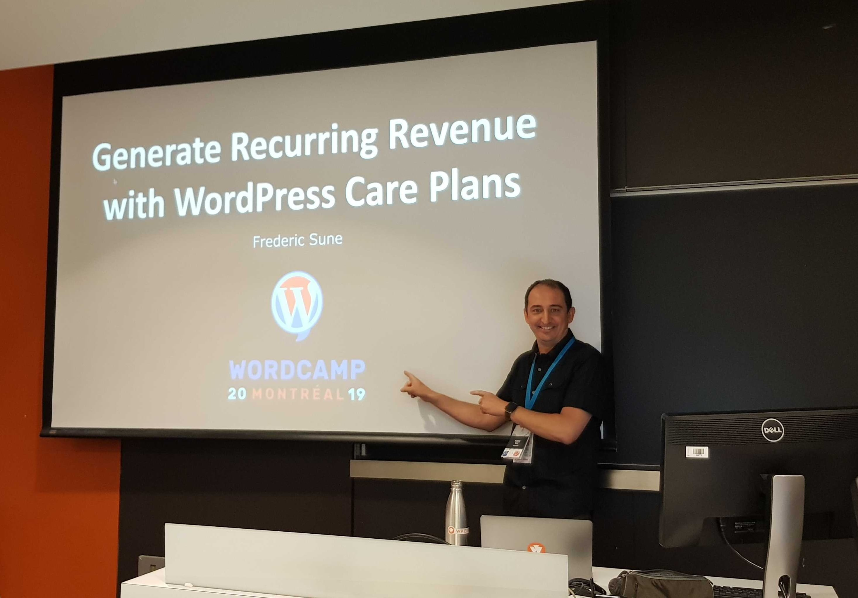 Frederic Sune at WordCamp Montreal 2019